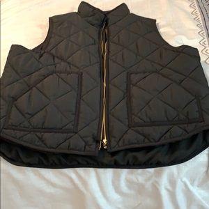 JCREW Mercantile Black Vest